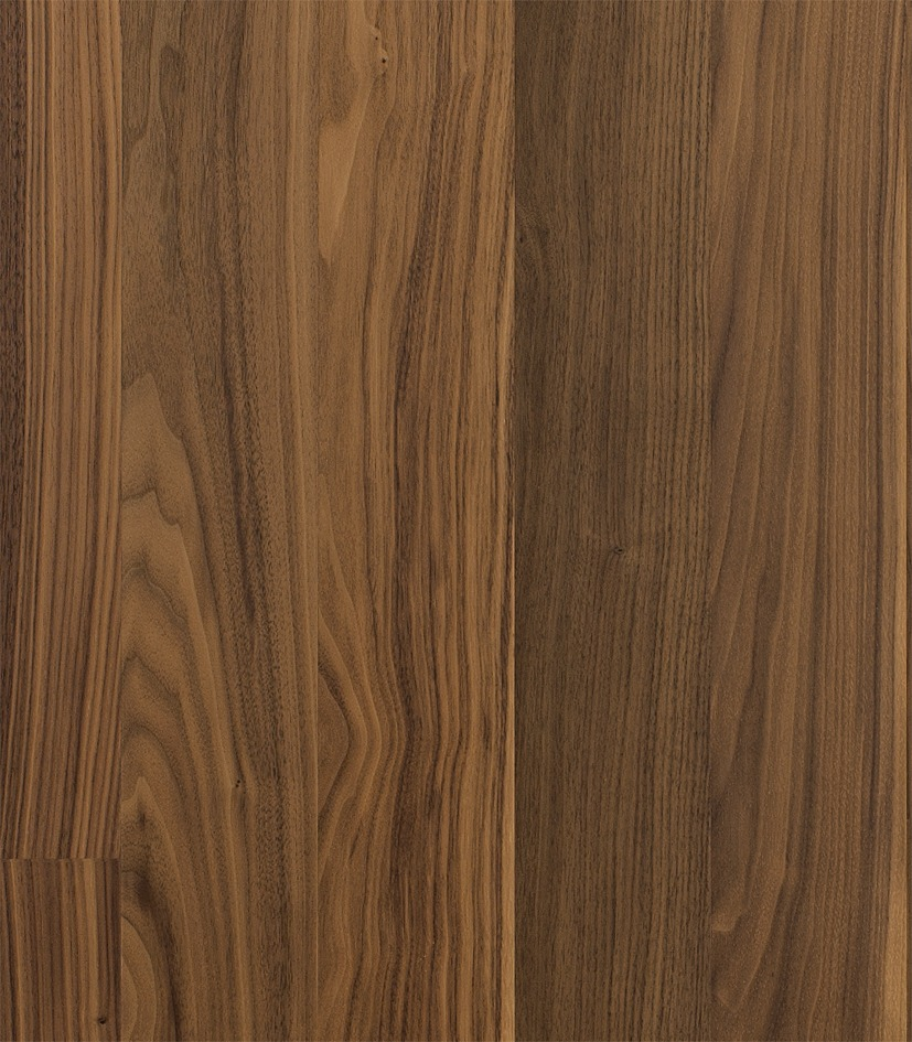 Kahrs walnut cocoa 1 strip satin lacquer finish the for Real wood flooring