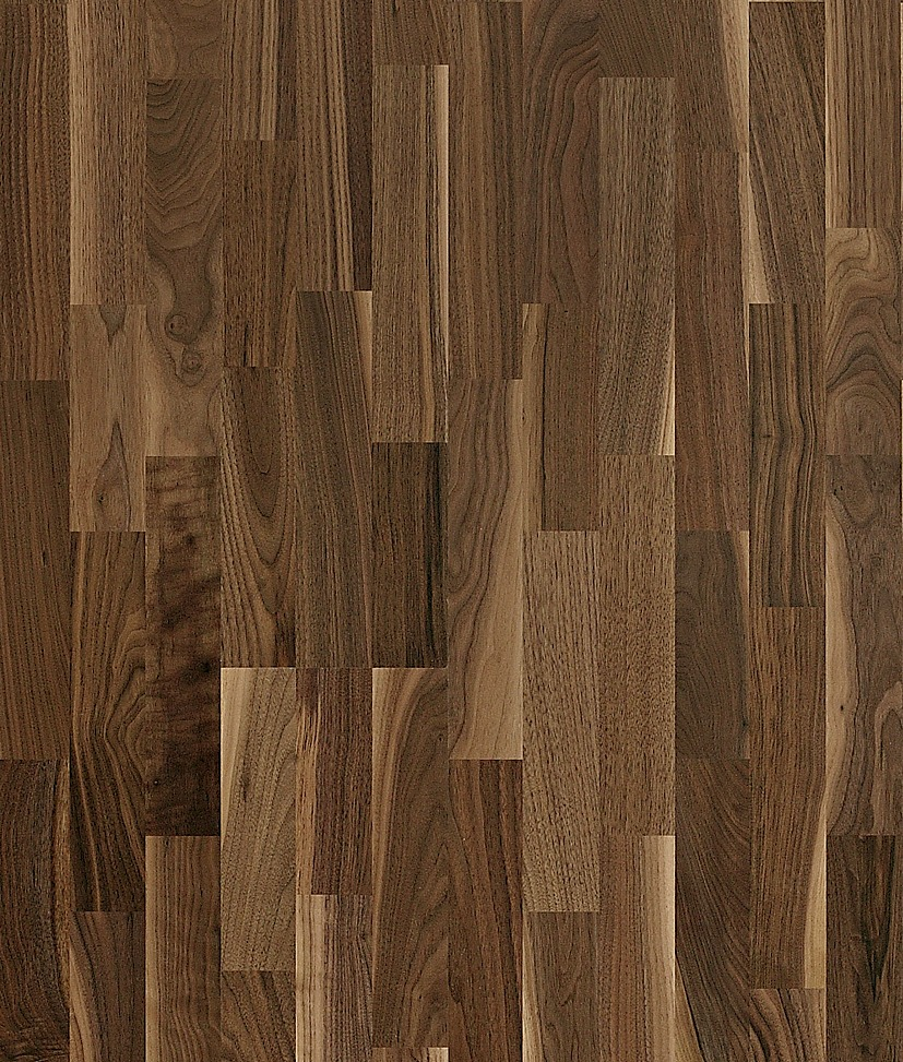 Kahrs walnut hartford 3 strip satin lacquer finish the for Walnut wood flooring