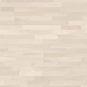 Ter Hürne Hard Maple Canadian Arctic - Parquet 3-strip White-matt Lacquer Finish