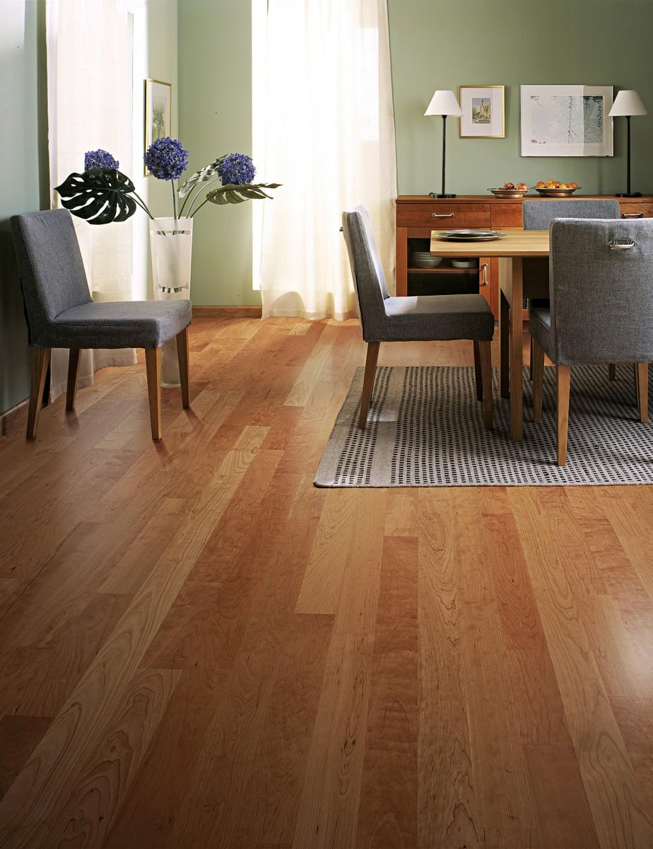 Kahrs cherry charleston 2 strip satin lacquer finish for Best flooring for resale value
